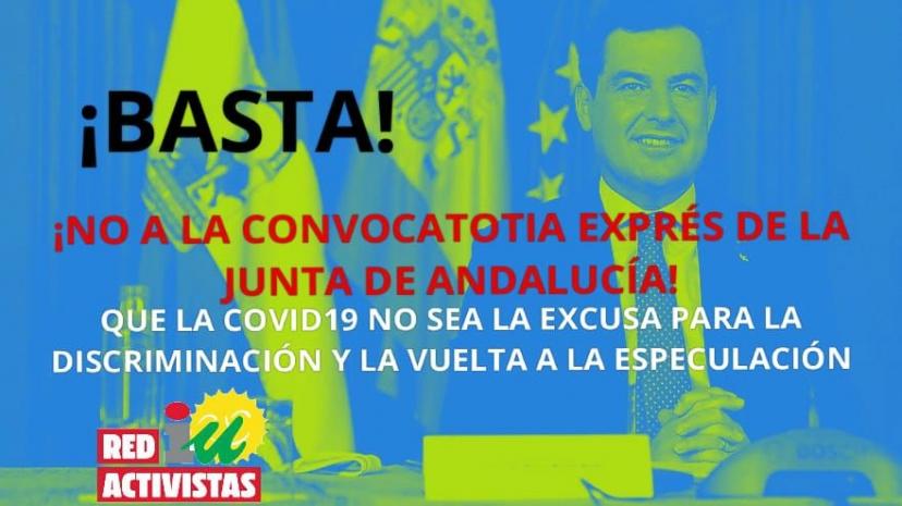 La Red de Activistas de IU Sevilla recurre la convocatoria express de 159 plazas de funcionarios interinos por parte del gobierno andaluz