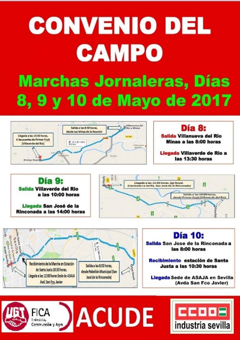 Marchas Jornaleras: 8, 9 y 10 de mayo