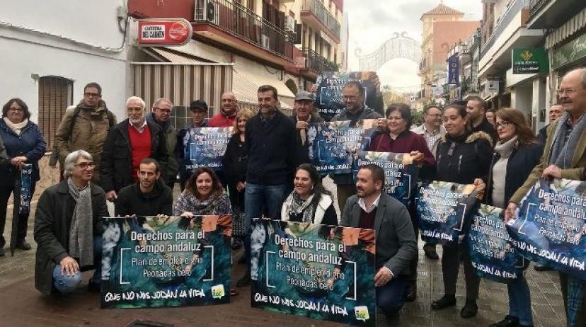 IU pide peonadas cero para evitar el fraude y reclama un plan de empleo digno para el campo andaluz