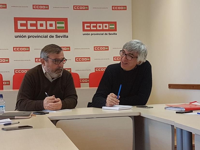 IU y CCOO Sevilla denuncian los falsos mensajes de recuperación económica