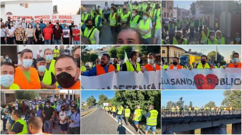La Marcha por la Sanidad Pública organizada por las asambleas de IU La Vega llegan el 14 al Parlamento