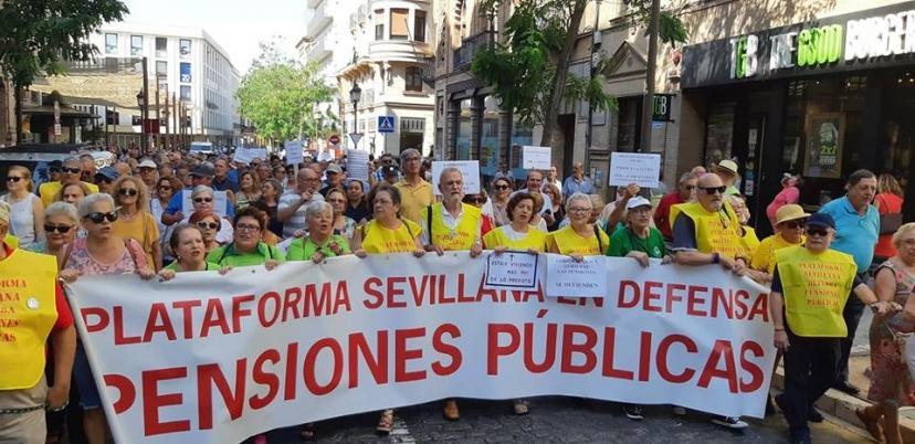 Manifestación por la revalorización de las pensiones al IPC real
