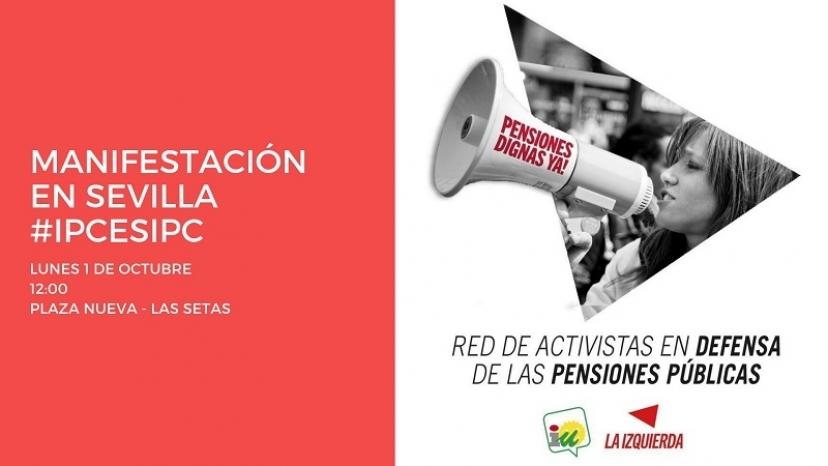 IU Sevilla muestra su apoyo a Eladio Lozano y aprueba otra resolución de llamamiento a la manifestación de las pensiones