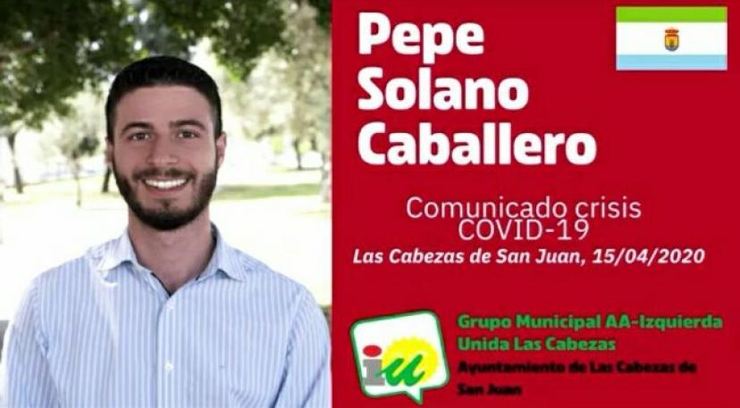 Izquierda Unida Las Cabezas realiza un balance de gestión de la crisis del COVID-19 en el municipio