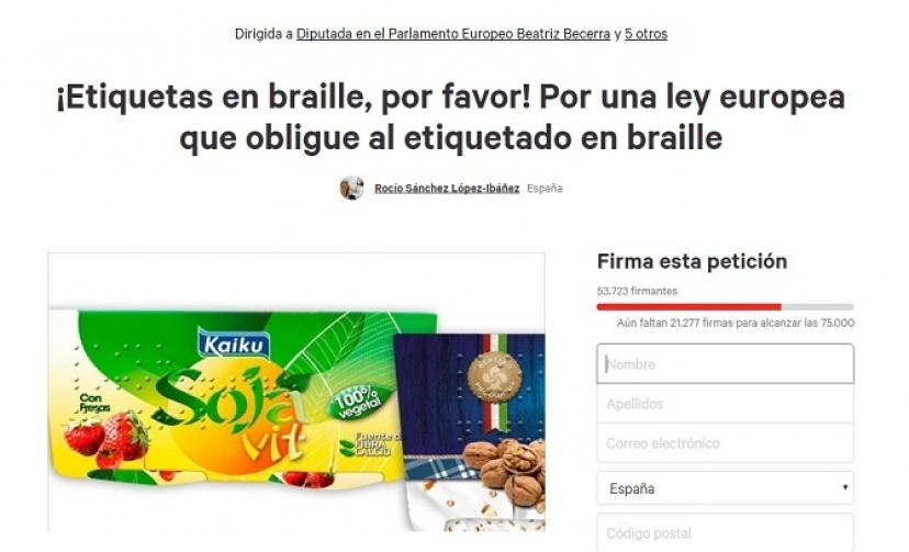 Osuna: Iniciativa para el etiquetado en braille