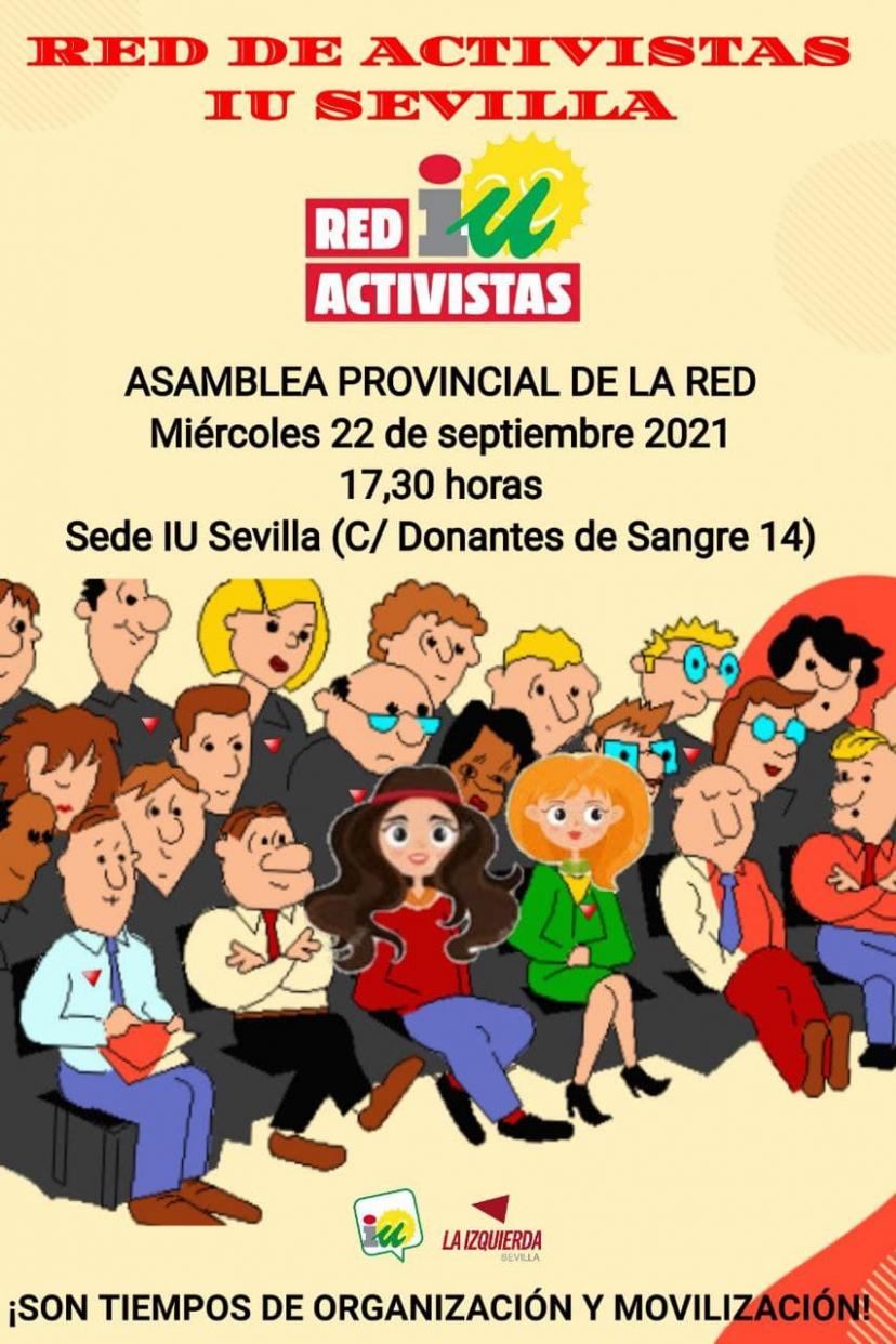 Las Redes de Activistas de IU Sevilla se reúnen el miércoles 22 de septiembre