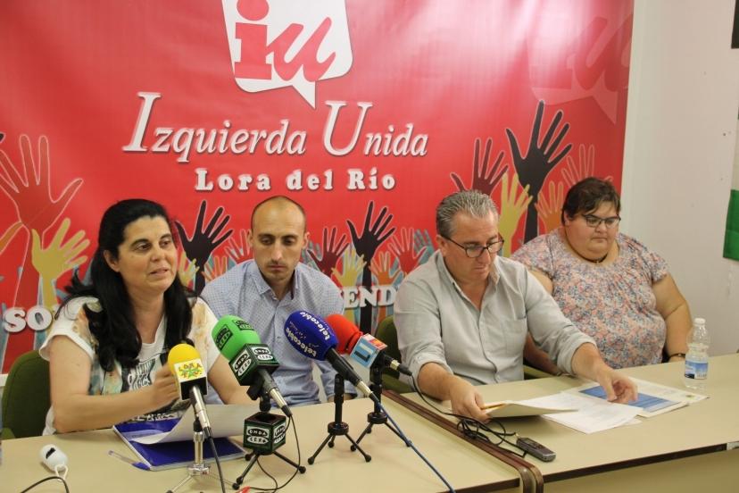 IU Lora del Río denuncia facturas y trabajos presuntamente irregulares e incompatibles de concejales del PP