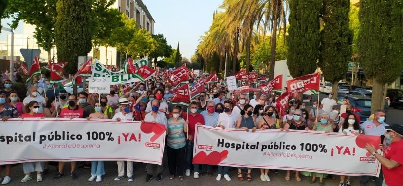Aljarafe Despierta: Éxito de la manifestación por un Hospital Comarcal 100% público