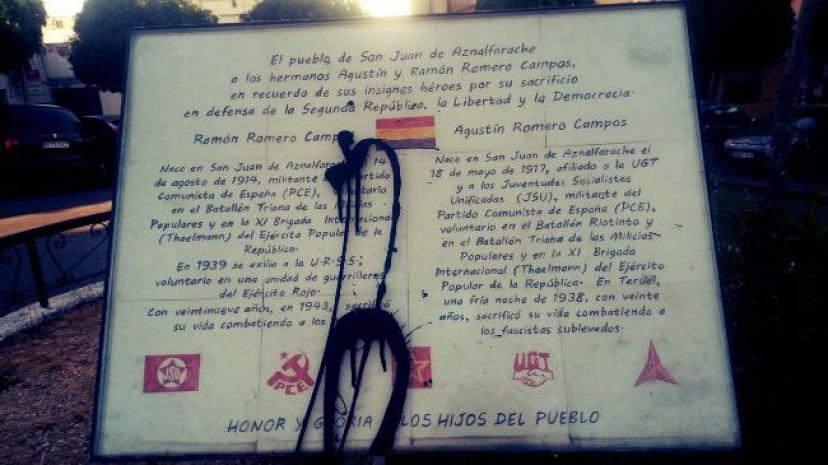 San Juan de Aznalfarache: Nuevo ataque a la Memoria Histórica y Democrática de nuestro pueblo