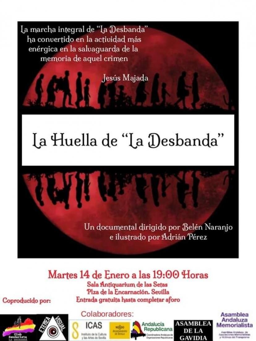 """Proyección de la película documental """"La Huella de la Desbandá"""""""