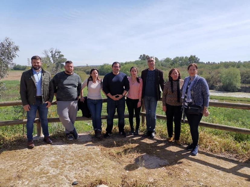 Encuentro del equipo de gobierno municipal de Peñaflor con las diputadas de Unidas Podemos